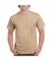 Korte mouwen T-shirt camel voor volwassenen