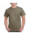 Korte mouwen T-shirt kaki voor volwassenen