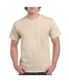 Korte mouwen T-shirt beige voor volwassenen